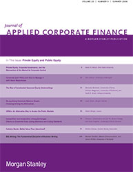 article on BIG Writing in The Journal of Applied Corporate Finance